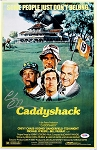 Chevy Chase Autographed Caddyshack 11x17 Movie Poster